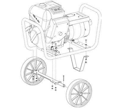 Carrello traino manuale CTM6000
